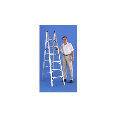 Step Ladder - GP Logistics Double-Sided Folding Step Ladder 6'L