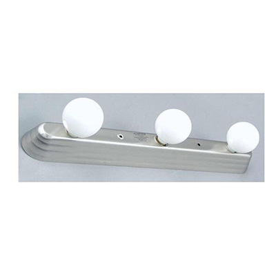 Interior Lights - Gustafson Vanity Light With Satin Nickel Base & 3 Frosted Bulbs 12V
