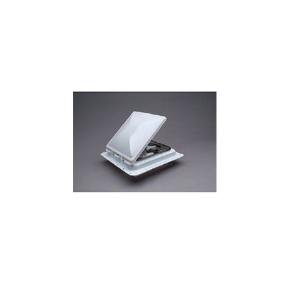 RV Roof Vent - Zephyr Electric Roof Vent With Exhaust & Reverse Functions White Lid