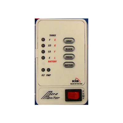 Holding Tank Monitor Panel - KIB Enterprises Holding Tank Monitor Panel White