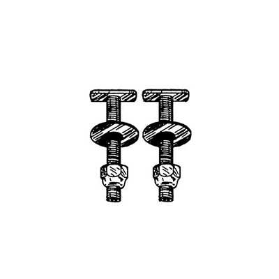Toilet Mounting Bolts - Howard Berger AquaPlumb Toilet Hold Down Bolts - 2 Per Pack
