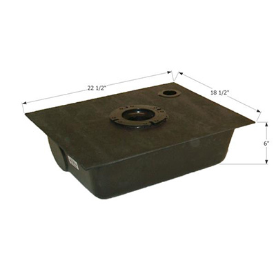 Waste Holding Tanks - ICON Bottom Drain RV Waste Holding Tank - 8G