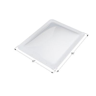 RV Skylight Lens - Icon - Exterior - 18 x 24 x 4 Inches - Clear