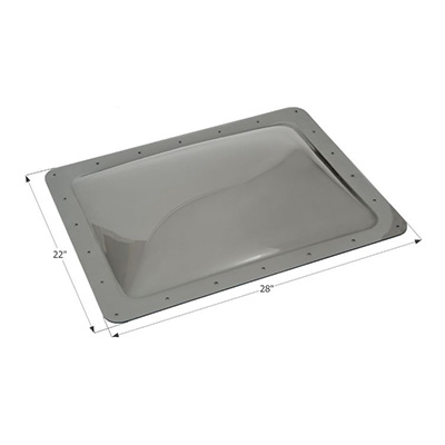 RV Skylight Lens - Icon - Exterior - 18 x 24 x 4 Inches - Smoke