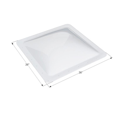 RV Skylight Lens - Icon - Exterior - 22 x 22 x 4 Inches - Clear