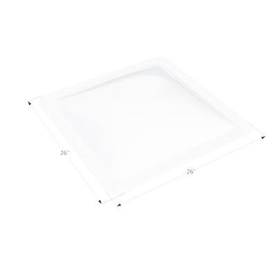 RV Skylight Lens - Icon - Exterior - 22 x 22 x 4 Inches - White