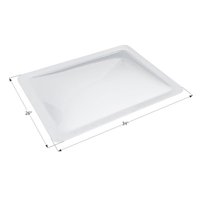 RV Skylight Lens - Icon - Exterior - 22 x 30 x 4 Inches - Clear