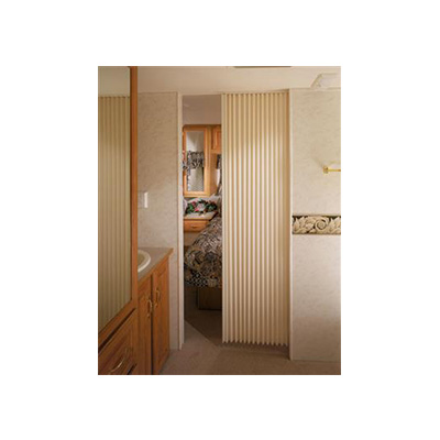 "Interior Door - Accordion Design - 36""W x 64""H - Ivory"