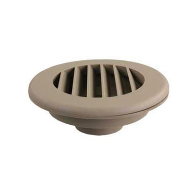Duct Covers - ThermoVent - Fits 2 Inch Round Duct Pipe - Tan