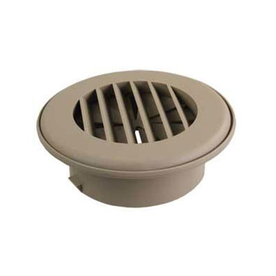 Duct Covers - ThermoVent - Fits 4 Inch Round Duct Pipe - Tan