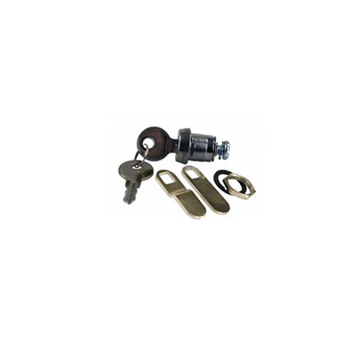 "Cam Locks - JR Products Deluxe J236 Key Baggage Door Lock Cylinder 1-3/8"" 1 Per Pack"