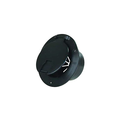 Electrical Cord Hatch - JR Products Round Power Cord Hatch With Cover - Black