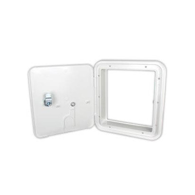 Electrical Cord Hatch Door - Thetford Locking Power Cord Compartment Door - White