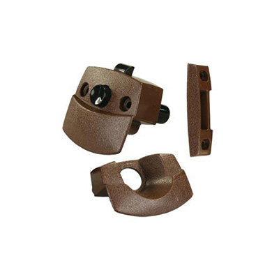 RV Interior Door Latch - JR Products - Push Button - Brown