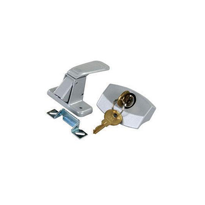 Door Latch - JR Products - Entrance Door - Locking - 701 Style Key - Silver