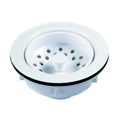 Sink Strainer - JR Products Plastic Sink Strainer 3-1/2