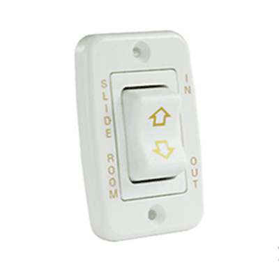 Slide Out Room Switch - JR Products Low Profile 5-Pin Slide Out Switch 12V - White