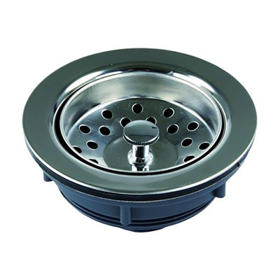 Sink Strainer - JR Products Stainless Steel Sink Strainer For 3-1/2