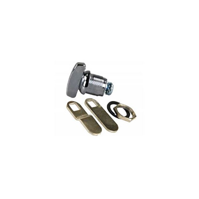 "Cam Locks - JR Products Deluxe Compartment Door Thumb Lock Cylinder 1-1/8"" 1 Per Pack"