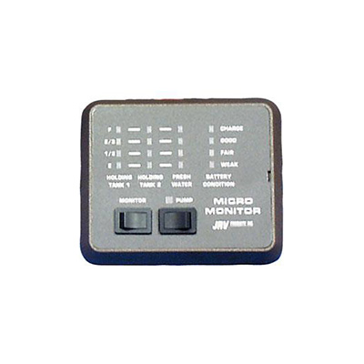 Holding Tank Monitor Panel - JRV Products LED Holding Tank Monitor Panel Black