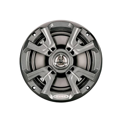 RV Speakers - Jensen - Waterproof - 6.5 Inch Round - 75W - 2 Per Pack - Grey