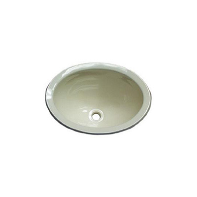 Sinks - Lasalle Bristol Oval Lavatory Sink Without Facuet Holes - Polar White