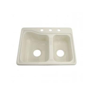 Kitchen Sink - Lippert Components - Double Bowl - ABS - Parchment Colour