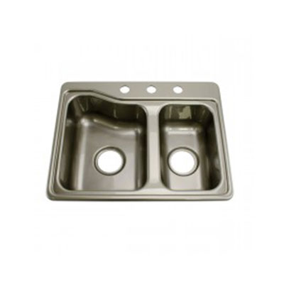 Kitchen Sink - Lippert Components - Double Bowl - ABS - Grey Colour