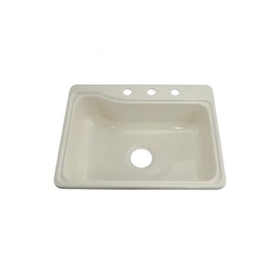 "Kitchen Sink - Single - Plastic - 25""W x 19""L - White"
