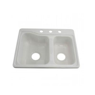 Kitchen Sink - Lippert Components - Double Bowl - ABS - White Colour