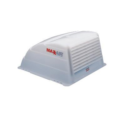 RV Roof Vent Cover - MaxxAir Standard-Size Exterior Roof Vent Cover - White
