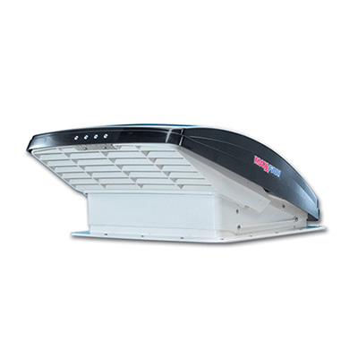 Roof Vent - MaxxFan Deluxe 7500K Roof Vent With, Intake, Exhaust, Remote Control - Smoke