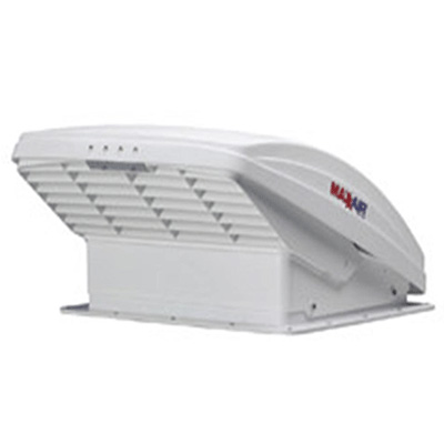 RV Roof Vent - MaxxFan 5100K Deluxe Roof Vent With Intake, Exhaust & Thermostat White Lid