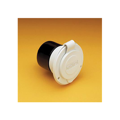 Power Receptacle - Marinco 15A Flush-Mount RV Power Receptacle - White