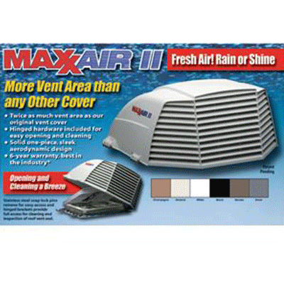 RV Roof Vent Cover - MaxxAir II Exterior Roof Vent Cover Black