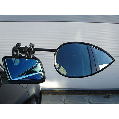 Towing Mirrors - Milenco Aero3 Universal-Fit Clamp-On Towing Mirror 2 Per Pack