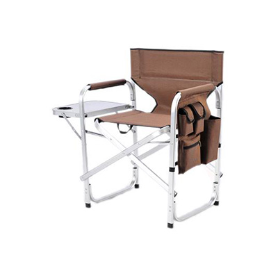 Camping Chairs - Ming's Mark Director-Style Folding Chair With Side Pouch & Tray Brown