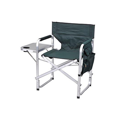 Camping Chairs - Ming's Mark Director-Style Folding Chair With Side Pouch & Tray - Green