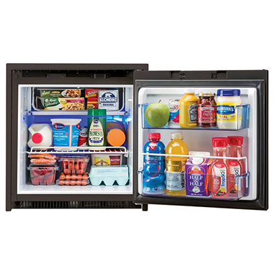Refrigerators - Norcold 2-Way AC/DC 2.7 Cubic Foot Refrigerator Black