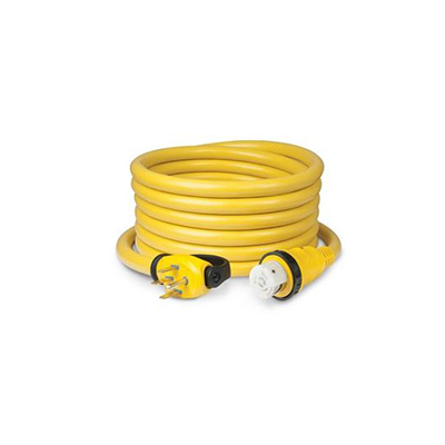 Power Cord - ParkPower Power Cord Plus Cordset - Locking Ring With LED Light - 50A - 25'L