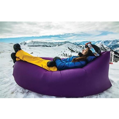 Camping Chairs - Lamzac Inflatable Fatboy Lounge Chair With Carry Case - Purple