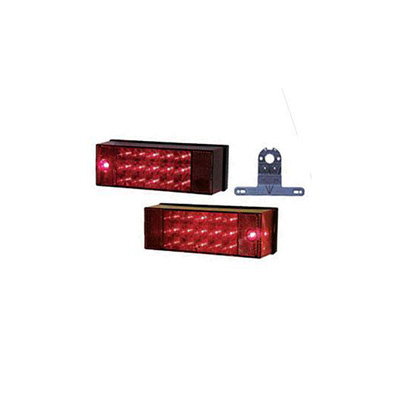 Trailer Light Kit - Peterson LED Submersible Trailer Light Kit With Plate Holder 12V