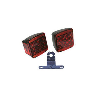 Trailer Light Kit - Peterson LED Trailer Light Kit With Wire Harness & Plate Holder 12V