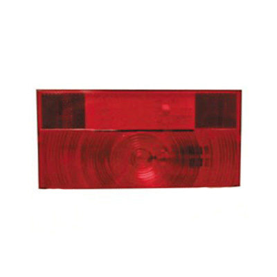 Tail Light Lens - Peterson V25922 Lens With Square Corners Without License Plate Light - Red