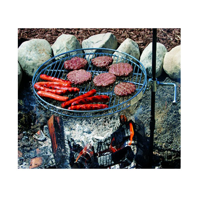 Fire Pit Grate - Pioneer Campfire Grill - Includes Carry Bag And Glove