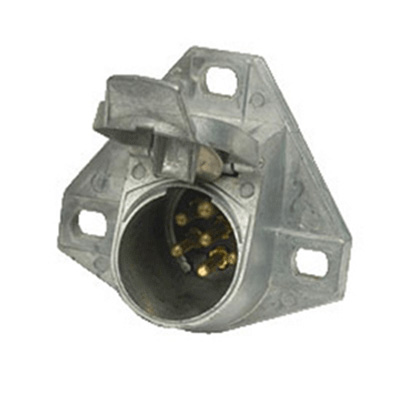 Trailer Lights Plug - Pollak 7-Way Metal Vehicle Plug