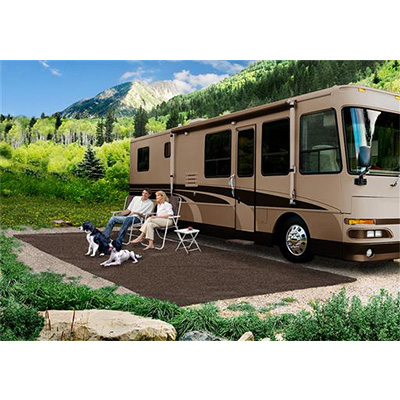 Camping Mats - Prest-O-Fit - Patio Rug - 6 x 15 Feet - Espresso