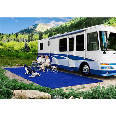 Camping Mats - Prest-O-Fit - Patio Rug - 6 x 15 Feet - Imperial Blue