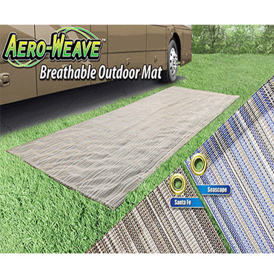 Outdoor Mats - Prest-O-Fit Aero-Weave Mat 6' x 15' - Seascape