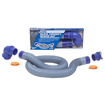 Sewer Hose - Blueline Ultimate Sewer Hose Kit With Quick Connects & Elbow 10'L